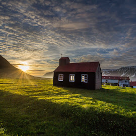 Church in Iceland by Bernharður Guðmundsson - Buildings & Architecture Places of Worship ( church landscape iceland sun summer sky )