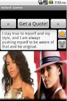 Screenshot of Aaliyah Quotes