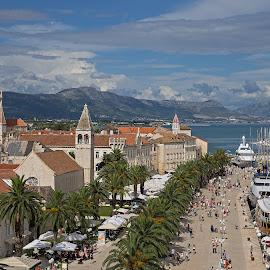 Trogir by Jürgen Mayer - City,  Street & Park  Historic Districts ( kroatien, oldtown, hafen, harbour, stadt, croatia, trogir, reise, travel, town, altstadt )