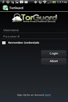 Screenshot of TorGuard VPN