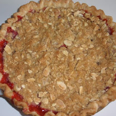 Strawberry Rhubarb Pie With Almond Streusel