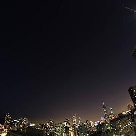 Chicago skyline by Adam Fabian - City,  Street & Park  Skylines ( skyline, chicago, city )