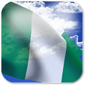 3D Nigeria Flag + icon