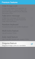 Screenshot of HI AppLock (Disguise plugin)