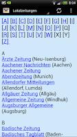 Screenshot of Zeitungen Deutschland