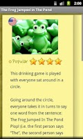 Screenshot of Drinking Games Encyclopedia