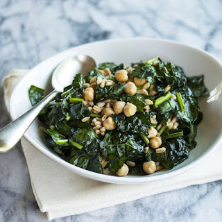 Chopped Kale, Farro & Chickpea Salad