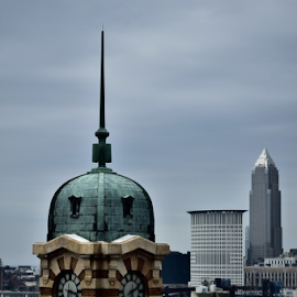 West Side Market Clock by Tim Hauser - City,  Street & Park  Skylines ( clock tower, art, fine art photography, fine art, westside market, cleveland ohio, ohio city, westside market clock tower )