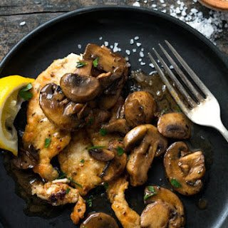 Lemon and Garlic Chicken With Mushrooms