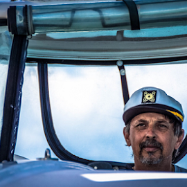 Captain by Petra Bensted - People Portraits of Men ( boating, cruising, yachting, sailing, whitsundays, holidays )
