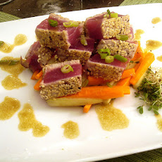 Seared Tuna With Green Onion-Wasabi Sauce