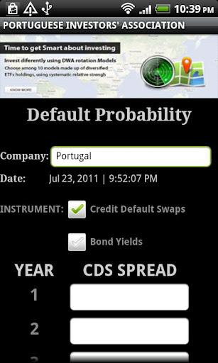 Stock Market Credit Default