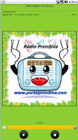 Screenshot of Web Rádio Primitiva