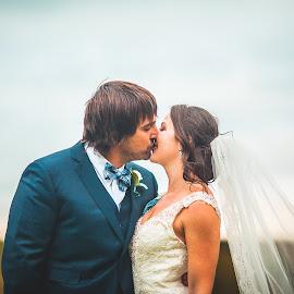 Alex and Kristina 2 by Sandro Pehar - Wedding Bride & Groom ( kiss, 5d mark 2, autumn, toronto, sunset, wedding, fall, leaves, romance, portrait )