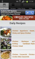 Screenshot of Chicken Recipes!