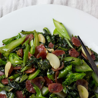 Chinese Broccoli with Chinese Sausage
