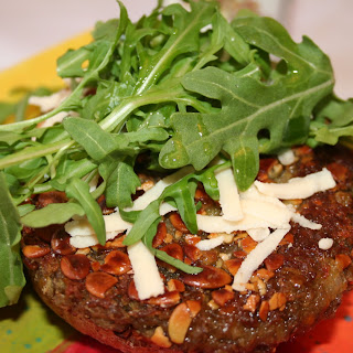 Pumpkin Seed Crusted Lentil Patties
