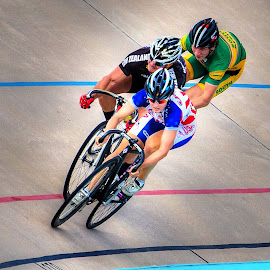 Velodrome Race by David Freese - Sports & Fitness Cycling ( colorado springs, olympics, biking, bicycle )