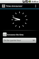 Screenshot of Time Announcer