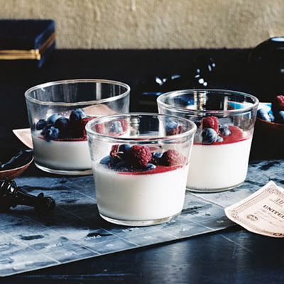Berries and Buttermilk Puddings