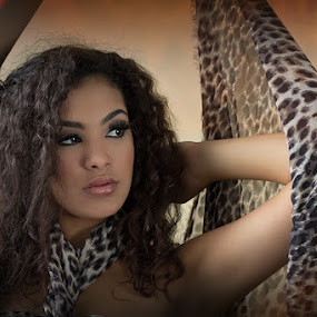 exotic princess by Johanna Bubela - People Portraits of Women ( cheetah, sultry, warm, pricess, exotic )