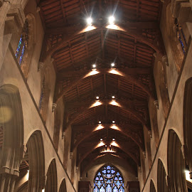 The Cathedral Ceiling Bryn Athyn.  by Valerie Stein - Buildings & Architecture Other Interior ( church, ceilings. valerie stein., Architecture, Ceilings, Ceiling, Buildings, Building )