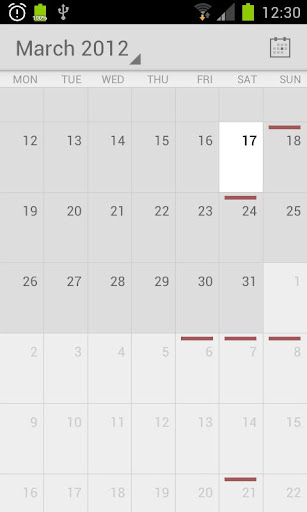 Calendar from Android 4.1