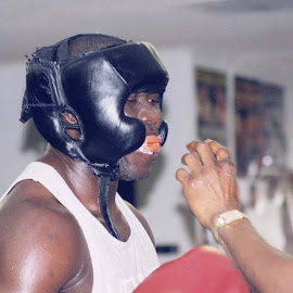 Heavyweight boxer Friday Ahunanya by Stephen Jones - Sports & Fitness Boxing