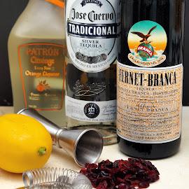 Creating cocktails by Gimo Nasiff - Food & Drink Alcohol & Drinks ( cranberry, orange, shaker, tequila, fernet, bartender, liquor, jigger, lemon )