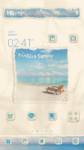 Summer dodol launcher theme - screenshot