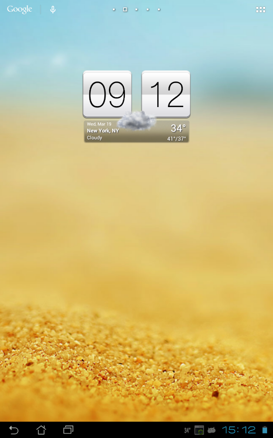 Sense V2 Flip Clock & Weather Screenshot 9