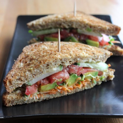 Veggie and Hummus Sandwich