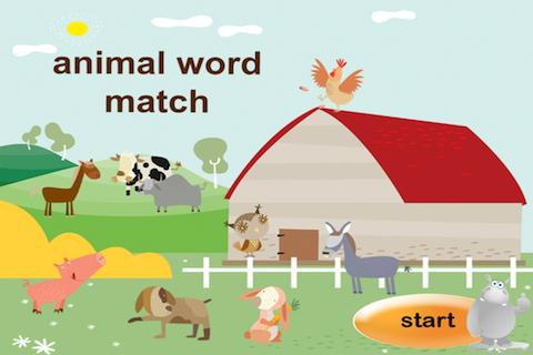 Animals Word Match