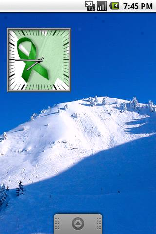 Green Awareness Ribbon Clock