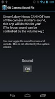Screenshot of Galaxy Nexus Camera Sound Fix