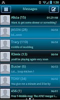 Screenshot of ICS GRADIENT THEME LITE GO SMS