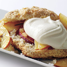 Fresh Peach and Gingercream Shortcakes