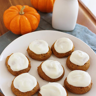 One-Bowl Frosted Pumpkin Gingerbread Cookies