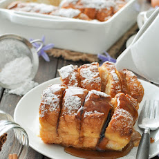 Hasselback Baked French Toast