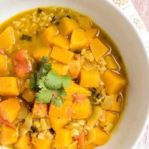 Curried Butternut Squash and Brown Rice Skillet Recept | Yummly