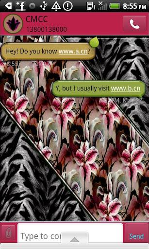 GO SMS THEME TigerLilly2