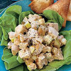Coronation Chicken Salad with Pita Chips