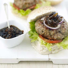 Sticky Sausage Burgers With Blue Cheese