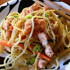 Asian Salmon Noodle Salad
