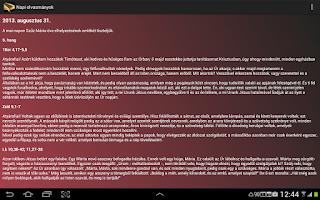 Screenshot of Greek Catholic Daily Gospel