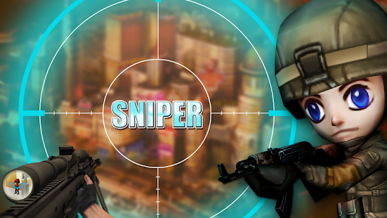 Sniper Shooter 3D - Toon City - screenshot