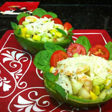 Shrimp & Scallop Salad in Avocado Cups