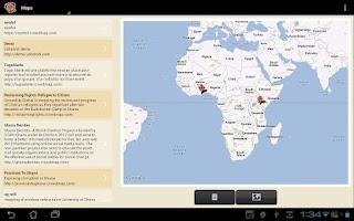Screenshot of Ushahidi