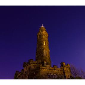 calton hill Edinburgh by Mohamed Alzwei - Buildings & Architecture Public & Historical ( uk, edinburgh, twilight, night )
