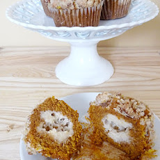 Pumpkin and Cream Cheese Muffins with Pecan Streusel